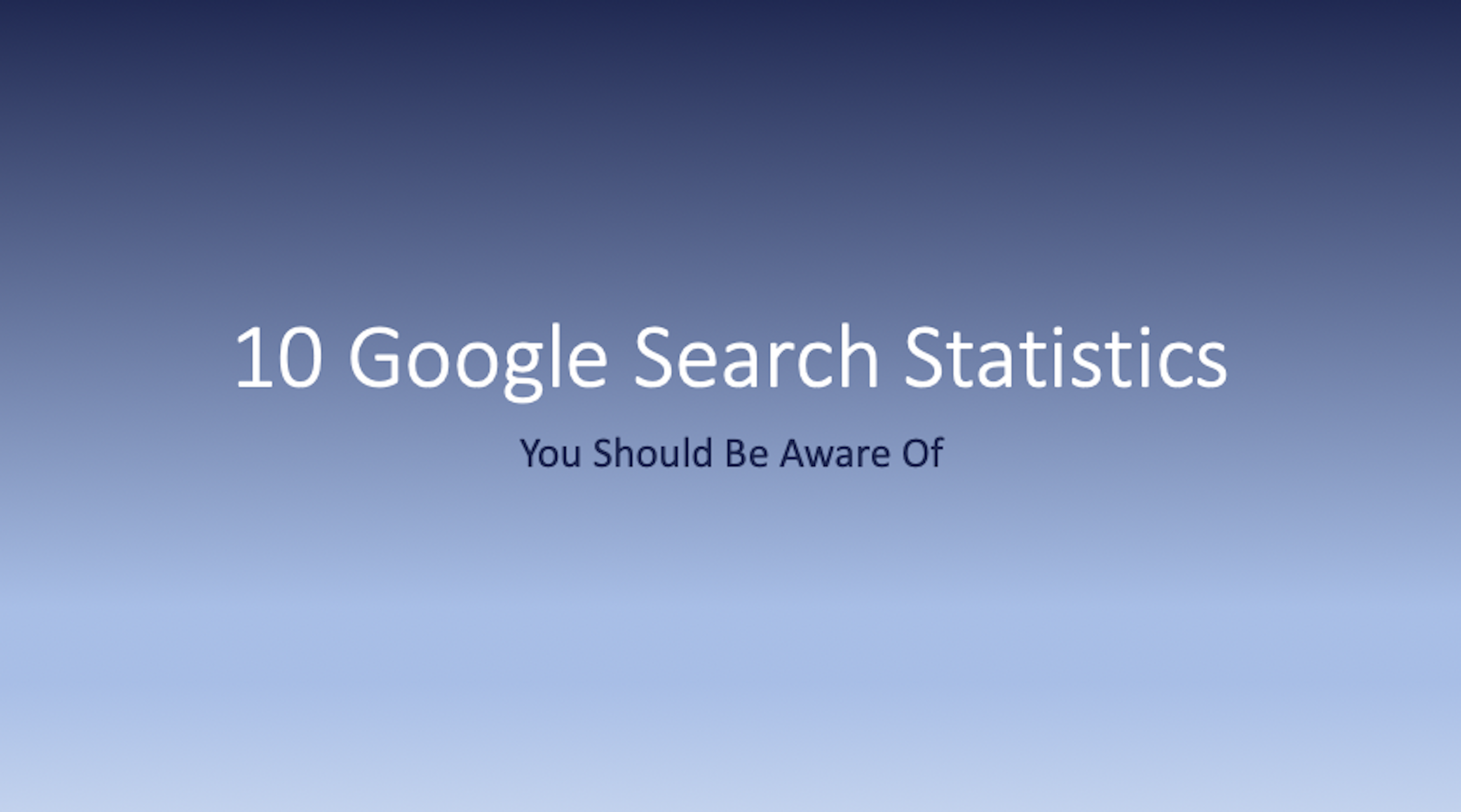 10 Google Search Statistics You Should Be Aware Of